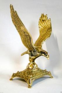 Adler Aar Messing großer Adler Figur Standfigur Dekorativer Adler Höhe 26cm