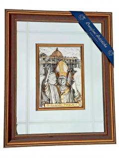 Wandbild 3D Creazioni Artistiche Italy Reliefbild Papst 71x58 Giovanni Paolo 2