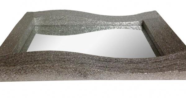 Wandspiegel Silber Glitzer Modern Flurspiegel Friseurspiegel 60x90 Mirror - Vorschau 2
