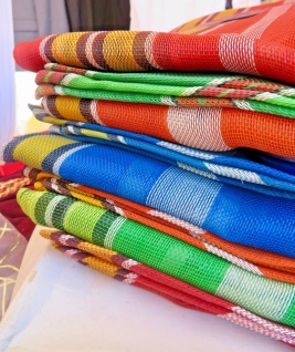 8x Einkaufstaschen in 4 Farben Leicht Transparent 48cm Markt/bazar Tasche NEU