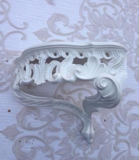 Wandkonsole antik weiß barok regal 38x35 Spiegelkonsole Eckkonsole Blumenständer