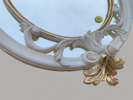 Wandspiegel Weiß-Gold Ornamente Barockspiegel 56x36 Friseurspiegel Flurspiegel