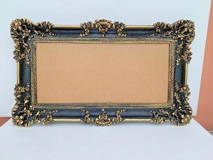 BAROCK xxl Gross Wandspiegel Rechteckig Antik Badspiegel Schwarz-Gold 96x57 1 - Vorschau 5
