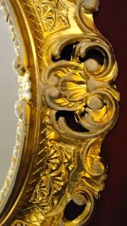 Wandspiegel Oval Gold-Weiß ANTIK BAROCK 45X37 Neu 01
