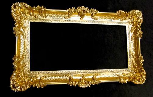BAROCK Spiegel Wandspiegel Rechteckig Antik Badspiegel Gold Antik 96x57