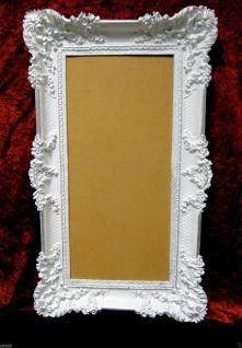 Bilderrahmen Weiß Silber Barock Gemälderahmen Prunk 97x57 Fotorahmen Antik - Vorschau 3
