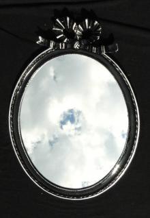 Wandspiegel Schwarz Silber Spiegel 57x41 BAROCK Oval massiv schleife Wanddeko 1 - Vorschau 3