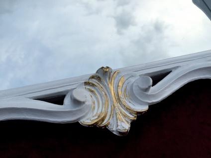 Wandspiegel Weiß-Gold Antik Barock Badspiegel Flur Spiegel 60X57 Jugendstil c494 - Vorschau 2