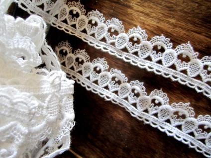 10 Meter Spitze Spitzenband 40mm Weiß guipure Borte Spitzenborte Baumwolle - Vorschau 3