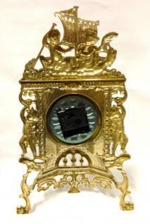 Tischuhr MESSING Kaminuhr ANTIK BAROCK GOLD 42CM MASSIV NEU Repro Quarz - Vorschau 5