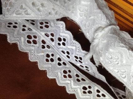 9 METER Spitzenborte Weiß band 3 cm Baumwolle Spitze Kissen Stickerei Madeira - Vorschau 2