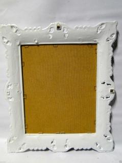 Bilderrahmen Fotorahmen Weiß Barock Rechteckig 45x37 Rahmen Antik mit Rückwand - Vorschau 4