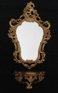 Wandspiegel mit Konsole grande Spiegelablage 50 X 76 ANTIK BAROCK 118 gold