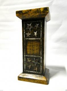 Kerzenhalter Holz Antik 24x11 Kerzenständer aus Mango Holz Ausstellungsstück 495 - Vorschau 2