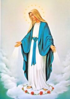 Heilige Mutter Maria Bild 50x70 Wandbild auf MDF religiöse Bild Jesus Maria Bild