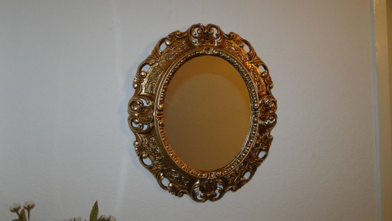 Wandspiegel Spiegel BAROCK Antik GOLD 45x38 Oval Badspiegel Rahmen mirror neu - Vorschau 5