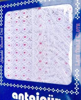 Spitze Tischdecke 100x100 häkelspitze plauener weiß pink Spitze Polyester - Vorschau 2