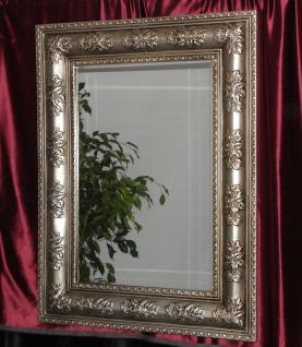 Wandspiegel Antik Silber Modern Flurspiegel Friseurspiegel 122x92 XXl Spiegel