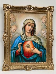 heiliges Herz von Maria Gemälde Madonna Maria Mutter gottes Bild Barock Rahmen
