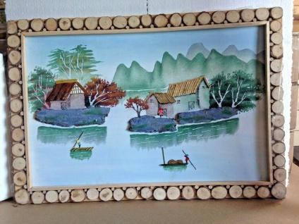 Bild mit Holzrahmen 3D Bild Landschaften 65cm Rahmen Holz Sonderpreis Angebot