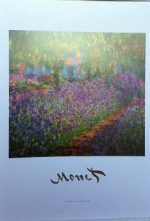 Claude Monet Garden Landschafts Bild Blumen Bilder Wandbild Barock 50x70cm N403