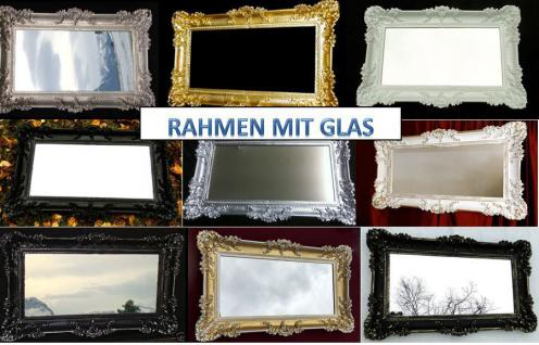 BAROCK Bilderrarahmen + GLAs rechteckig Hochzeitsrahmen Antik 96x57 Gold wählbar