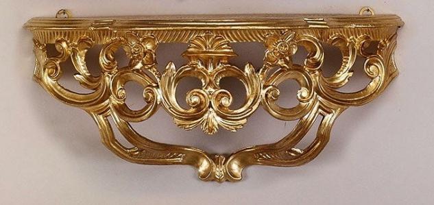 Wandkonsole Gold VintageRETRO/Spiegelkonsolen 40x17 BAROCK/Wandregal ANTIK cp74