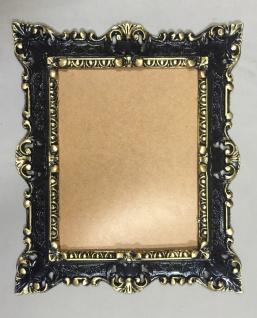 Bilderrahmen Jugendstil Schwarz-Gold Antik Rechteckig 45x38 Barock 103047