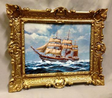 Segelschiff Amergio Vespucci Gemälde Schiffbild Bilderrrahmen Wandbild 56x46 - Vorschau 2