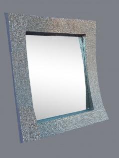 Wandspiegel Silber Glitzer Modern Flurspiegel Friseurspiegel 60x90 Mirror - Vorschau 1