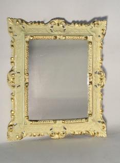 Wandspiegel Weiss Gold Barock Weiß Hochglanz Badspiegel 45 X 37 Shabby Antik