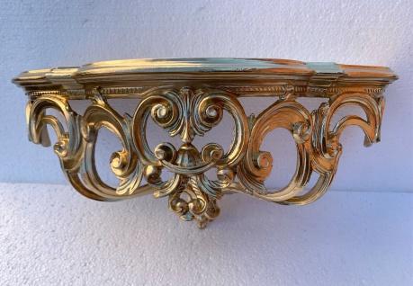 Regal Wandkonsole Gold Barock Spiegelkonsole 50x20x24 Antik Ornamente Ablage