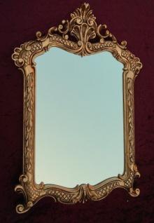 Wandspiegel Gold Antik Badspiegel 54X37 Shabby Flurspiegel Barock Spiegel c499 - Vorschau 4