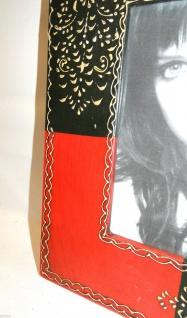 Bilderrahmen HOLZ Antik 24x30 Rot Schwarz 13x18 Ausstellungsstück Fotorahmen - Vorschau 3