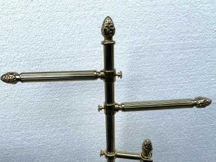 Messing WC Garnitur Badartikel Toilettenbürste Klopapierhalter Ständer 71cm - Vorschau 2
