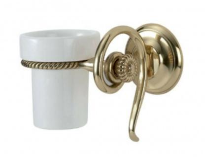 Zahnbürstenhalter Gold Wc Papierhalter Messing Porzellan Badzubehör