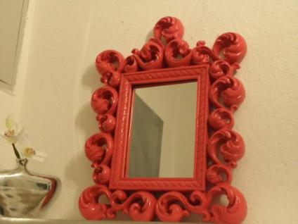 Spiegel Wandspiegel 64 X 54 BAROCK ROT Venezia 09 1 - Vorschau 1