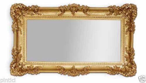 Wandspiegel Barock GOLD Spiegel Repro Badspiegel 97x57 Groß