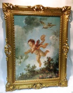 Engelbild 90x70 Schutzengel Wandbild Eros Heilige Bild Bilderrahmen
