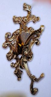 4x Wandhaken Garderobenhaken Kleiderhaken Antik Messing Haken Gold 11x17