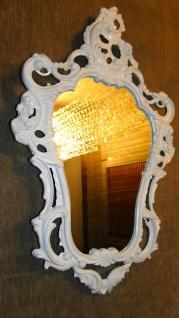 Wandspiegel Barock Weiß Spiegel Prunk Jugendstill 76x50 Retro SHABBY NEU