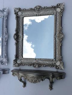 Wandspiegel Rechteckig mit Konsole Antik Silber Spiegelablage 56X46 Barock - Vorschau 2