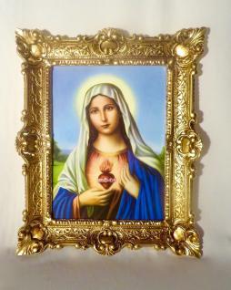 Bild mit Rahmen Heilige Maria 56x46 Christliche bilder Gemälde Antik Wandbild