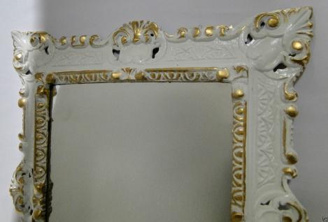 Set Wandspiegel+Wandkonsole Weiß-Gold Barock 45x37 Spiegel mit Konsole Ablage - Vorschau 5
