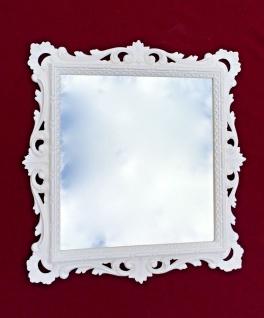 Wandspiegel Barock Weiß mit Glas 38x36 Barspiegel Weiß Hochglanz Antik