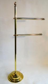 Badset Garnitur Handtuchhalter 78cm Messing Gold verstelbar Kleiderbügel Stand