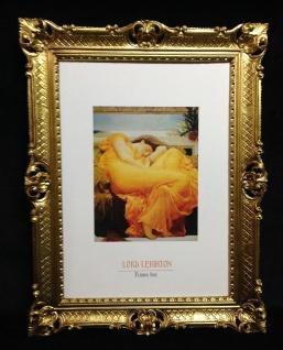 Gemälde Leigheton Dame in Schlaff gemälde Wandbild 90x70cm Barock Rahmen