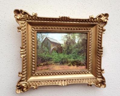 Gemälde 33x28 Antik Barock Rechteckig Bild mit Rahmen Landschaft B Ware