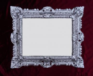 Bilderrahmen Barock Silber mit Glas 45x38 Rechteckig Antik Fotorahmen Jugendstil
