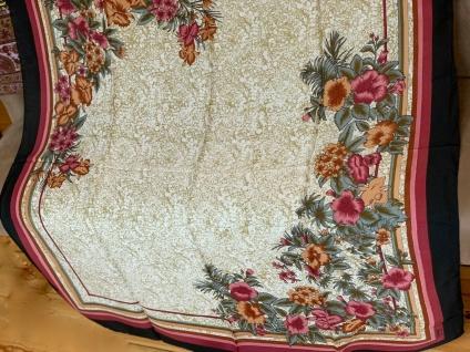 Halstuch, Schal, Schultertuch 115x115 Koptuch Batik Schwarz Blumen Tücher xxl